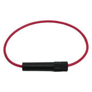 Nosilec varovalk na kablu 6.4 x 30 mm