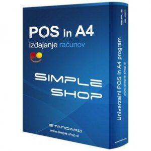 Program za izdajanje računov (davčna blagajna) Simple Shop (enkraten znesek)