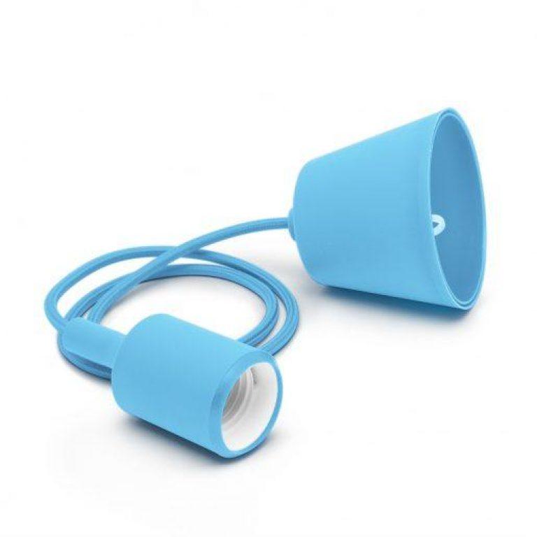 Stropna silikonska svetilka E27 modra