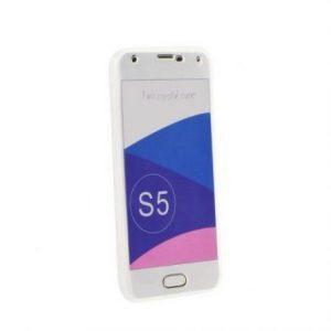 360° silikonski ovitek za Samsung Galaxy S8 prozoren