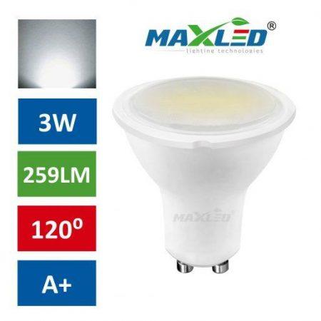 LED žarnica - sijalka GU10 3W (25W) nevtralno bela 4500K