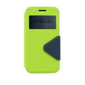 Preklopni ovitek z okencem za  Apple Iphone 7 PLUS zeleno-moder