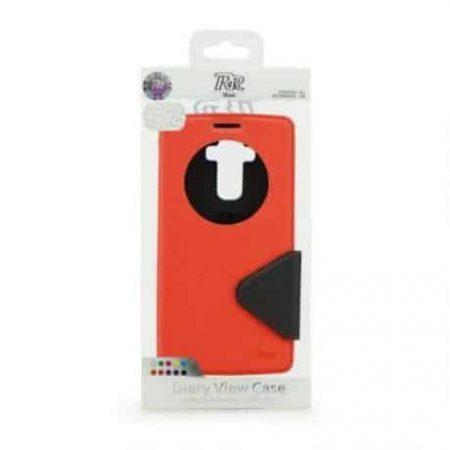 Preklopni ovitek z okencem za  Apple Iphone 7 rdeče-črn