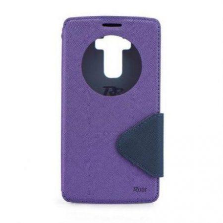 Preklopni ovitek z okencem za  Apple Iphone 7 vijolično-moder