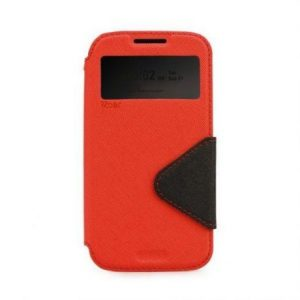 Preklopni ovitek z okencem za  Huawei P9 rdeče-črn