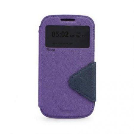 Preklopni ovitek z okencem za Huawei P9 vijolično-moder