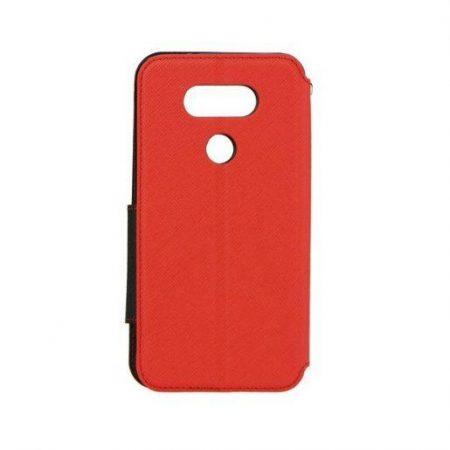 Preklopni ovitek z okencem za  LG G5 rdeče-črn