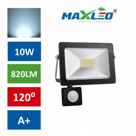 LED reflektor SMD SLIM 10W hladno beli 6000K s senzorjem