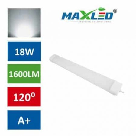 LED vodotesna svetilka IP65 18W 4000K 60cm