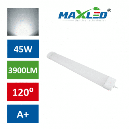 LED vodotesna svetilka IP65 45W 4000K 150cm