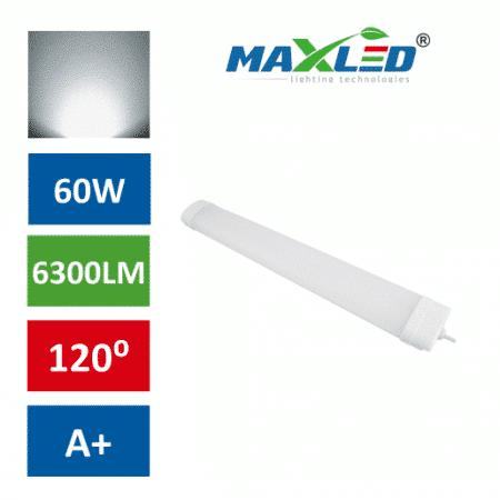 LED vodotesna svetilka IP65 60W 4000K 120cm