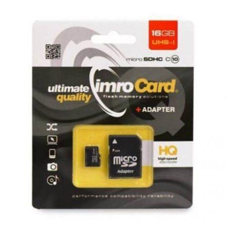 Micro SD spominska kartica 16GB s pretvornikom