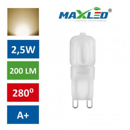 LED žarnica - sijalka G9 1:1 2,5W (21W) toplo bela 3000K