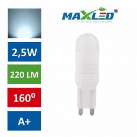 LED žarnica - sijalka G9 2,5W (21W) hladno bela 6000K