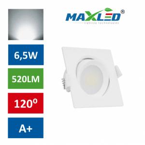 LED vgradna svetilka 6,5W kvadratna nevtralno bela