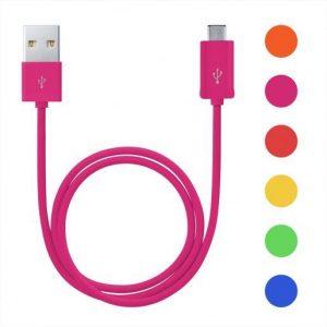 Micro USB kabel 1m več barv