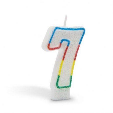 Svečka za na torto 7cm številka sedem