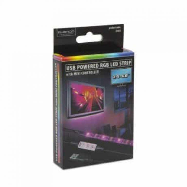 USB RGB LED trak z kontrolerjem 1m
