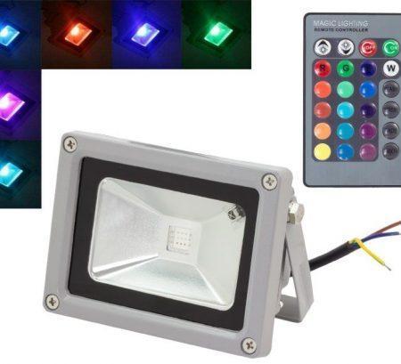 RGB LED reflektor z daljincem