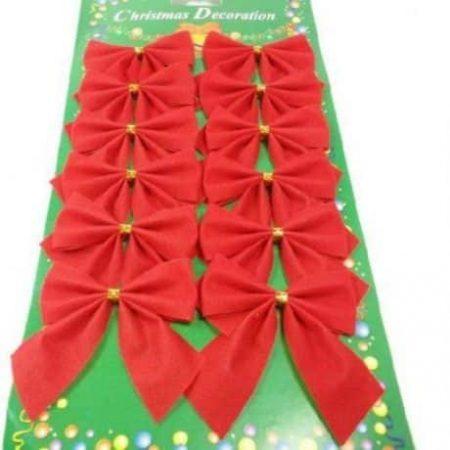 Božične pentlje rdeče 12 kos