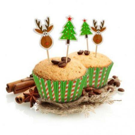 24 delni set za okraševanje muffionv božični motivi