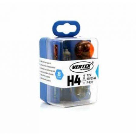 8 delni set rezervnih avto žarnic H4 z varovalkami