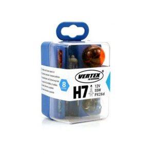 8 delni set rezervnih avto žarnic H7 z varovalkami