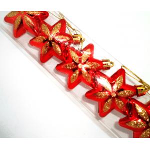 Obeski za novoletno jelko zvezdice 5 kosov