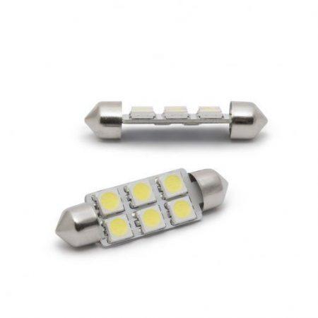 Avto LED sijalka 6 LED 41mm 1,5W 6000K