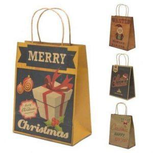 Božična darilna vrečka vintage 21x27cm