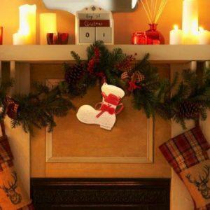 Božična dekoracija škorenj 11cm