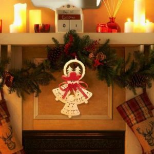 Božična dekoracija zvončki 17cm