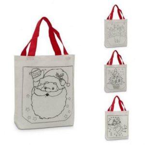 Božična vrečka pobarvaj me s flumastri