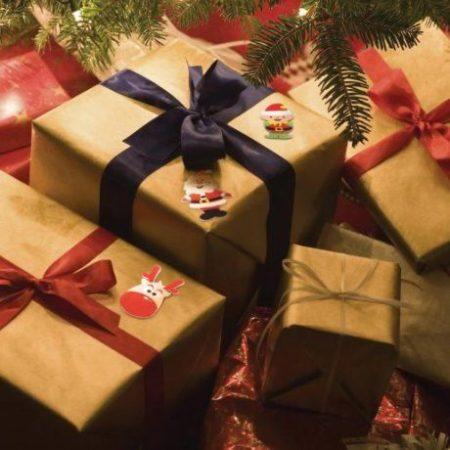 Božične nalepke iz pene božiček, škrat in jelen 60 kos