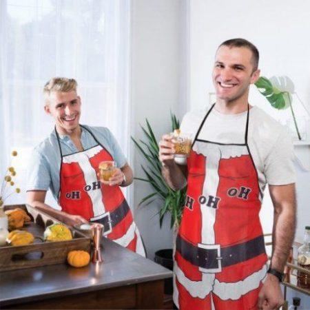 Božični predpasnik za moške Santa Claus