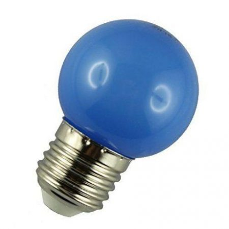 LED žarnica - sijalka E27 1W (10W) modra