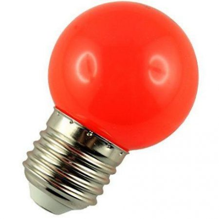 LED žarnica - sijalka E27 1W (10W) rdeča