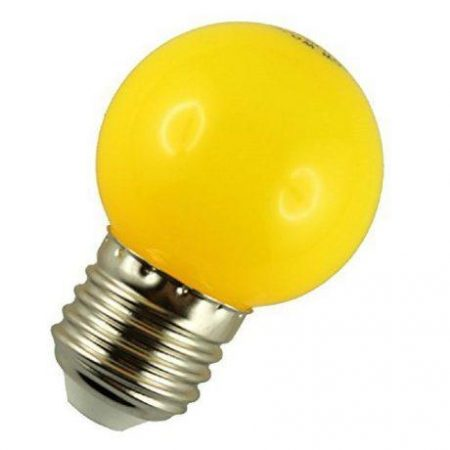 LED žarnica - sijalka E27 1W (10W) rumena