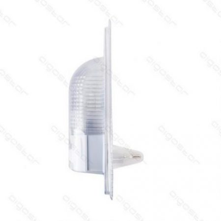 LED nočna svetilka E14 4W s senzorjem svetlobe bela