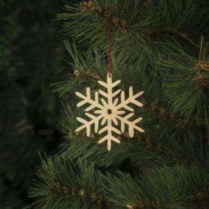 Leseni božični okrasek 2 kosa