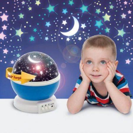 Moon&Star otroška projektorska svetilka modra