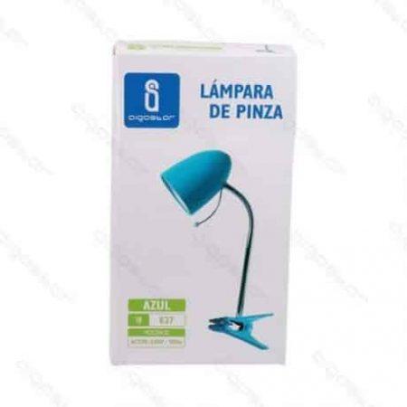 Namizna svetilka z vzmetno sponko modra