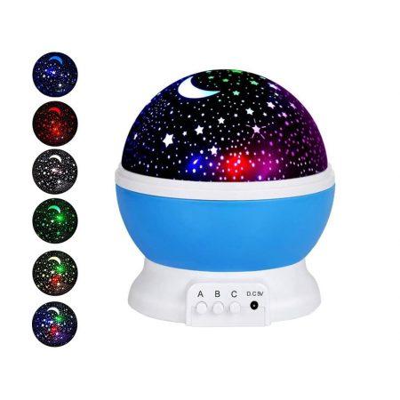 Otroška USB LED projektorska svetilka modra