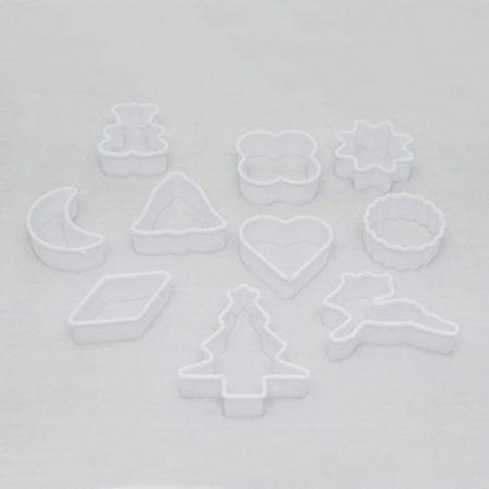 Plastični modelčki za božične kekse 10 kosov