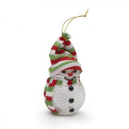 Snežak z LED lučko