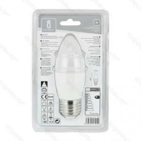 LED žarnica - sijalka E14 C37 9W toplo bela 3000K