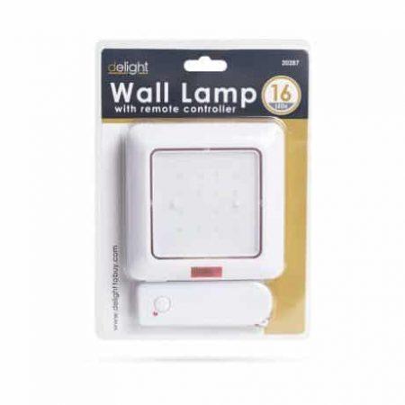 Baterijska LED stenska svetilka 16 LED z daljincem