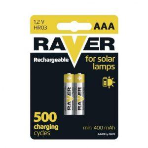 Rezervne baterije za solarne scetilke RAVER SOLAR AAA 400mAh 2 kosa