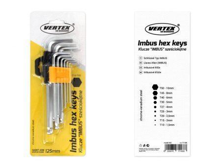 Set IMBUS ključev 125mm 9 kos