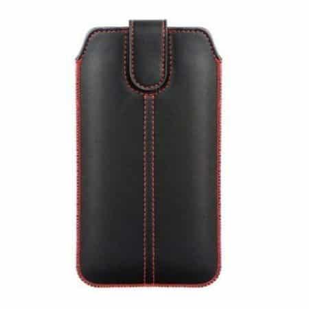 Univerzalni ovitek za mobilni telefon črno rdeč - žepek
